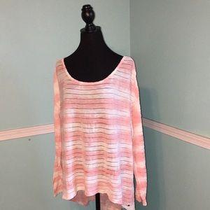❤️GUESS Ombré Striped Sheer Top ~ XL